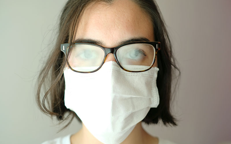Tips on beating foggy lenses while wearing a mask, Cambridge.