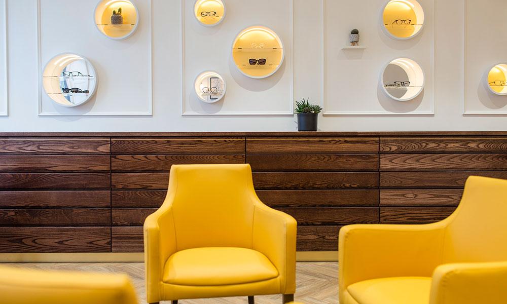 Yellow Chairs, Refurbishment, Taank Optometrists
